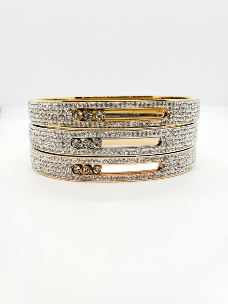 Image of Floating diamond bangle