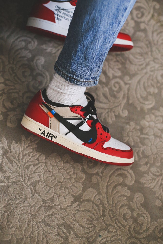 "Image of Chicago retro 1 low OG ""off-white"" inspired"