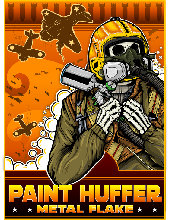 Image of PAINTHUFFER F-BOMB BANNER - ORANGE COLOR-WAY