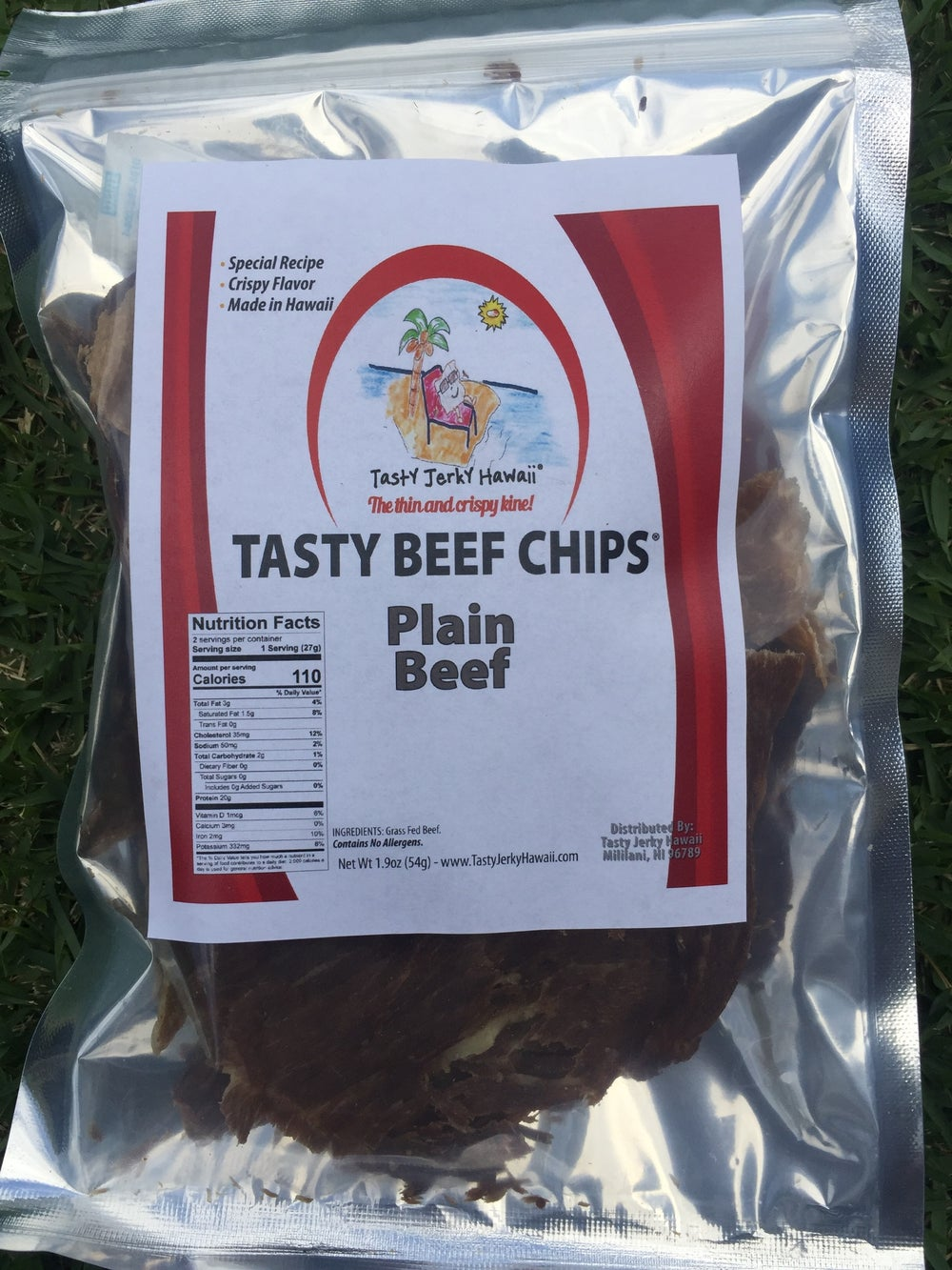 Image of Plain Beef Beef Jerky Chips