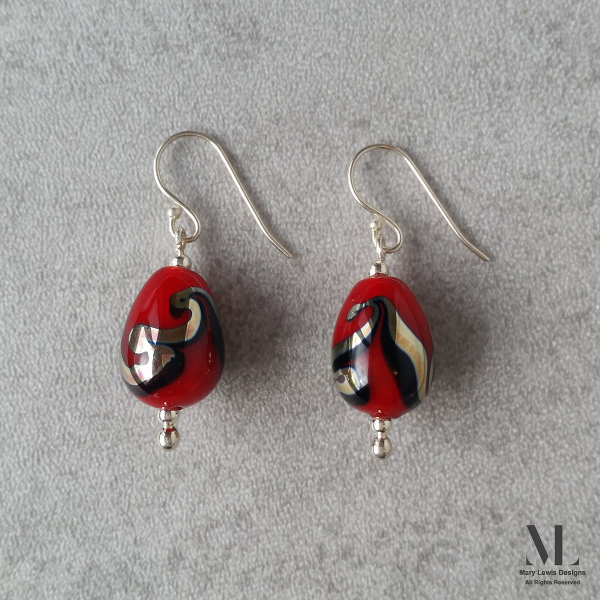 """""""Fire and Ice"""" Earrings"""