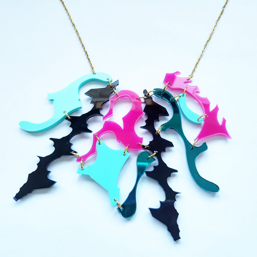 Image of Pink and Teal Zero Waste Necklace