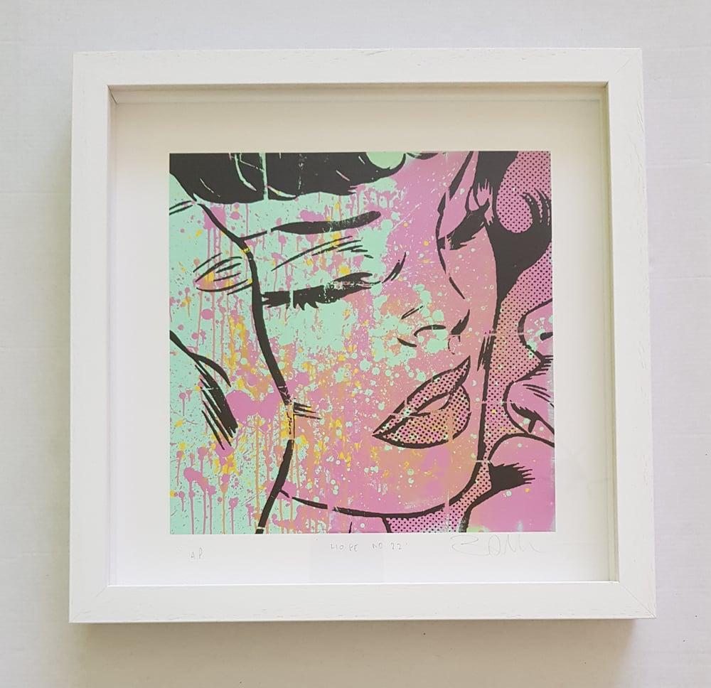 """Image of BEN ALLEN """"HOPE No22"""" - FRAMED ARTIST PROOF - 36CM X 36CM"""