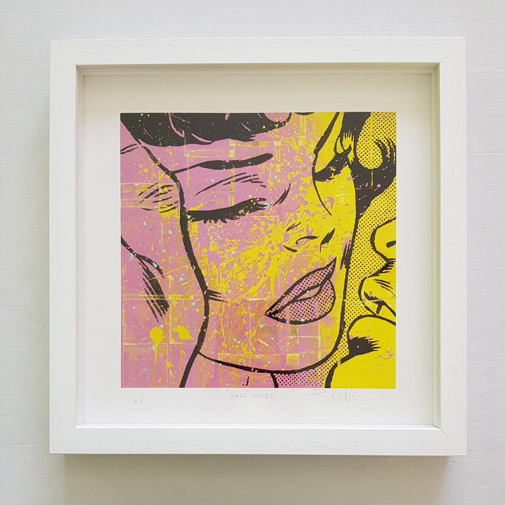 """Image of BEN ALLEN """"HOPE No23"""" - FRAMED ARTIST PROOF - 36CM X 36CM"""