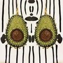 Image 1 of Avocado Goals handmade Earrings -Worn by Tabitha Brown!