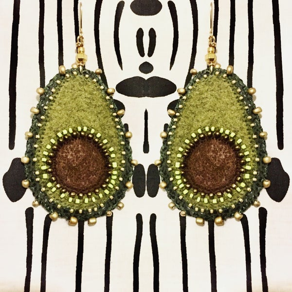 Image of Avocado Goals handmade Earrings -Worn by Tabitha Brown!