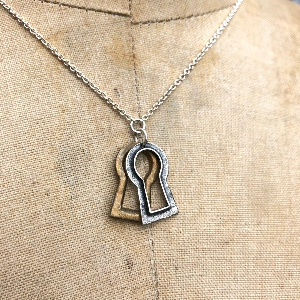 Image of Vintage, double keyhole necklace