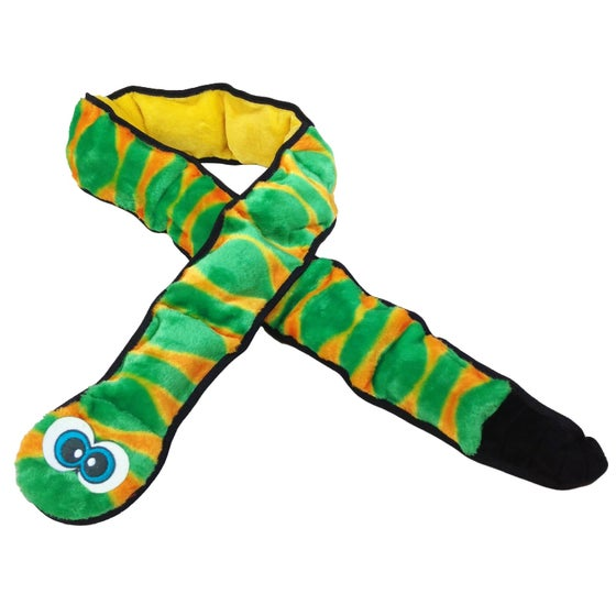 Image of INVINCIBLES GINORMOUS SQUEAKER SNAKE DOG TOY