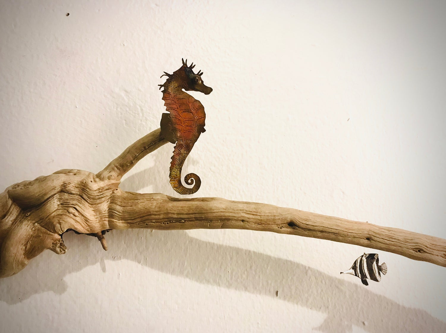 Image of Seahorse and Coral Fish Sculpture 1