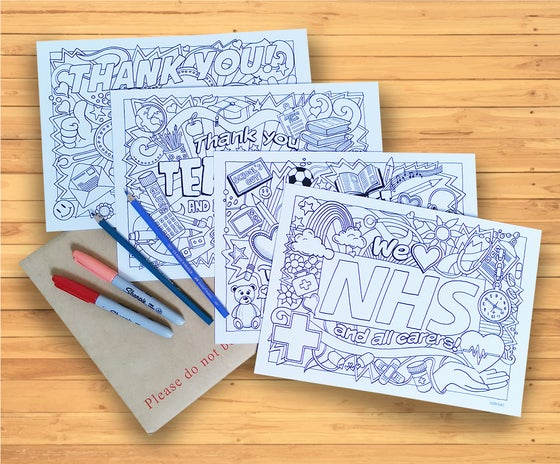 Image of Isolation Colouring - set of four high quality colouring pages