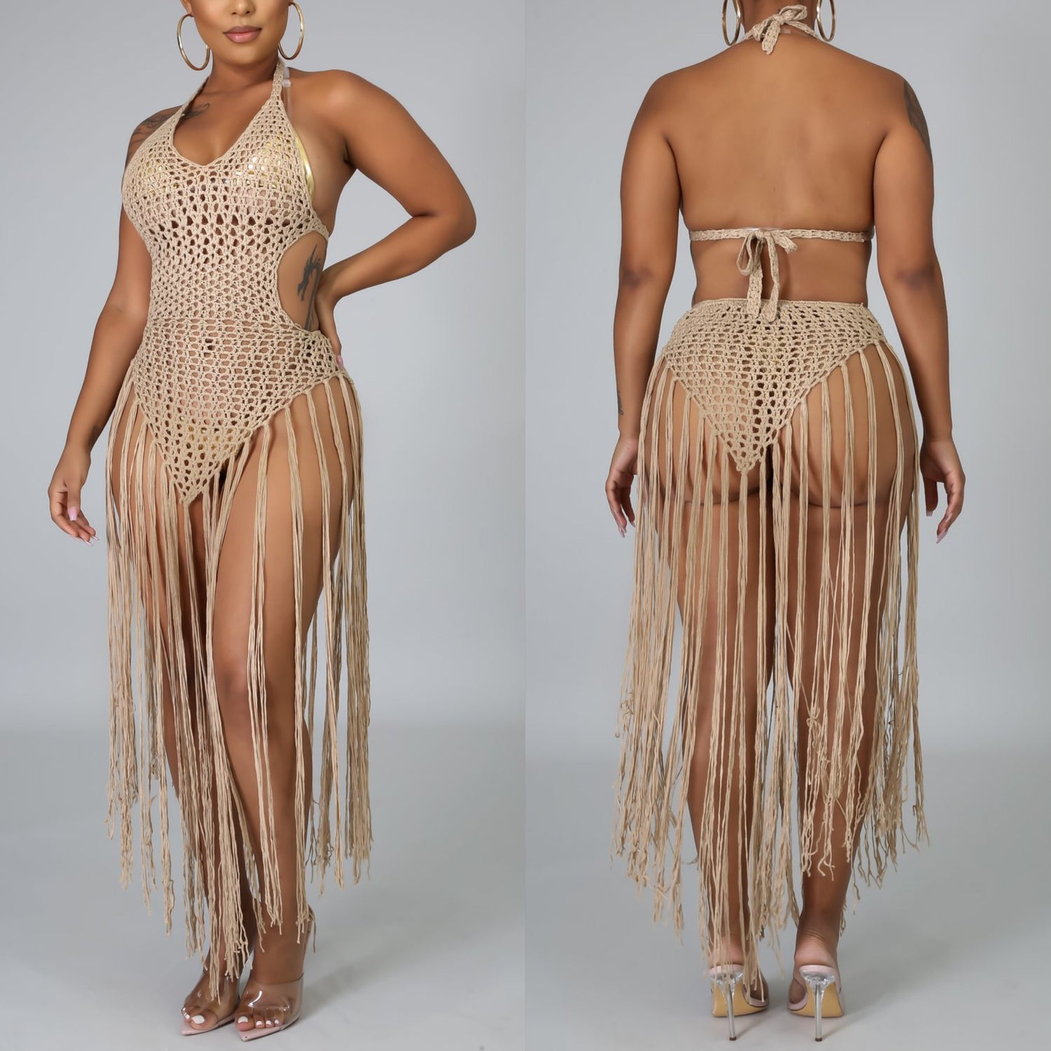 Image of Fringe Beach Cover Up