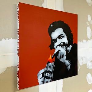 "Image of ""Burn Capitalism Burn"" 1/1 Original on 70x70cm Deep Edge Canvas"