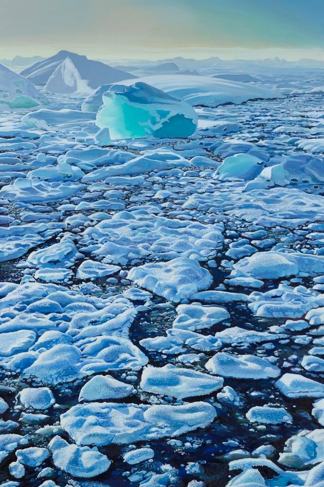 Image of Iceland lagoon print