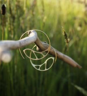 Image of Macro hoop earrings