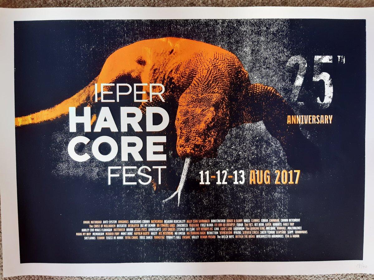 Ieperfest 25th Anniversary Screenprint