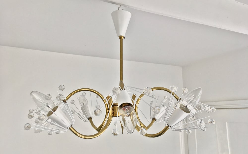 "Image of 22"" 8-Light Emil Stejnar Chandelier"