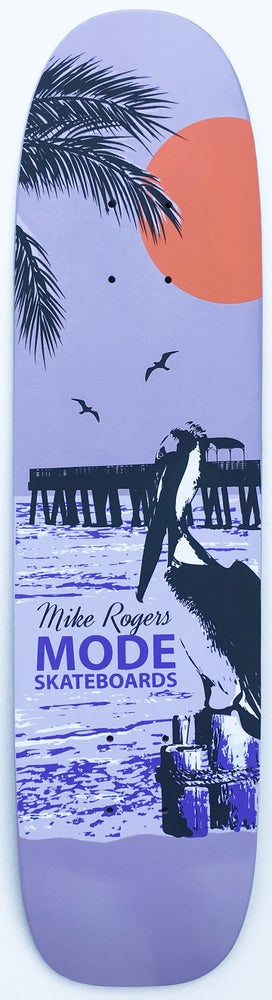 "Image of Mike Rogers ""Pelican"" single-kick freestyle deck (lilac) - 7.3 x 28.75"