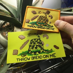 Image of THROW BREAD ON ME Patch / Sticker by Brad Rohloff