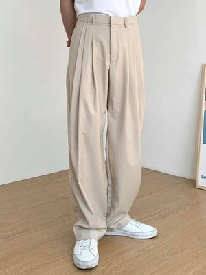 Image of WIDE SUIT TROUSERS (2 COLORS)