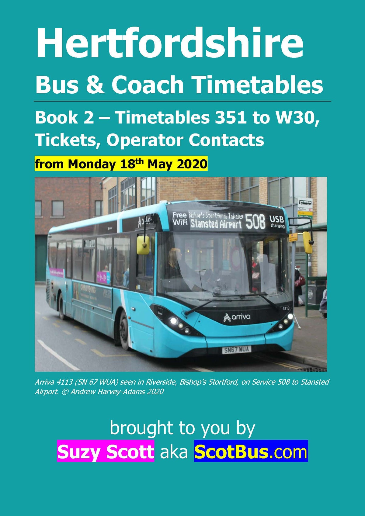 Image of Hertfordshire Bus Timetables, 18th May 2020