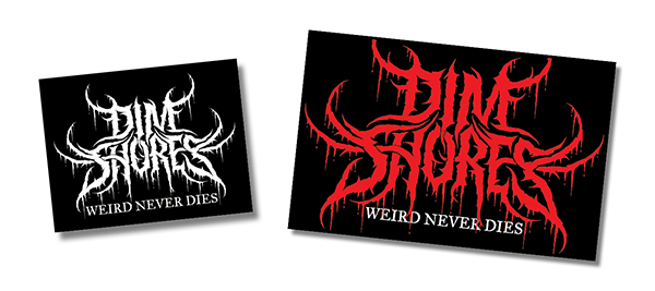 Image of Dim Metal, Black Shores t-shirt