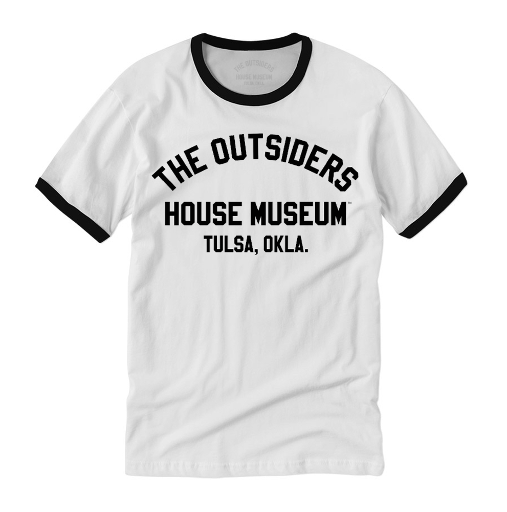 Image of The Outsiders House Museum Block Print Ringer T-Shirt