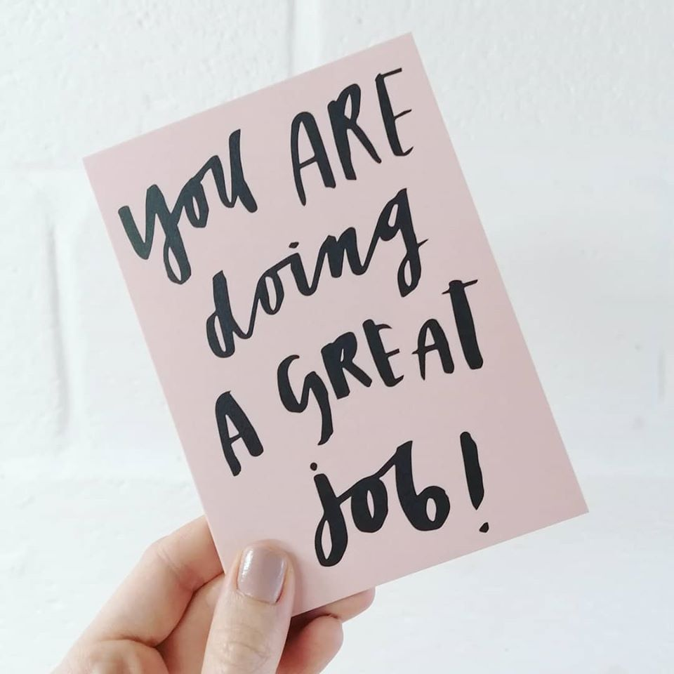 Image of You are doing a great job!
