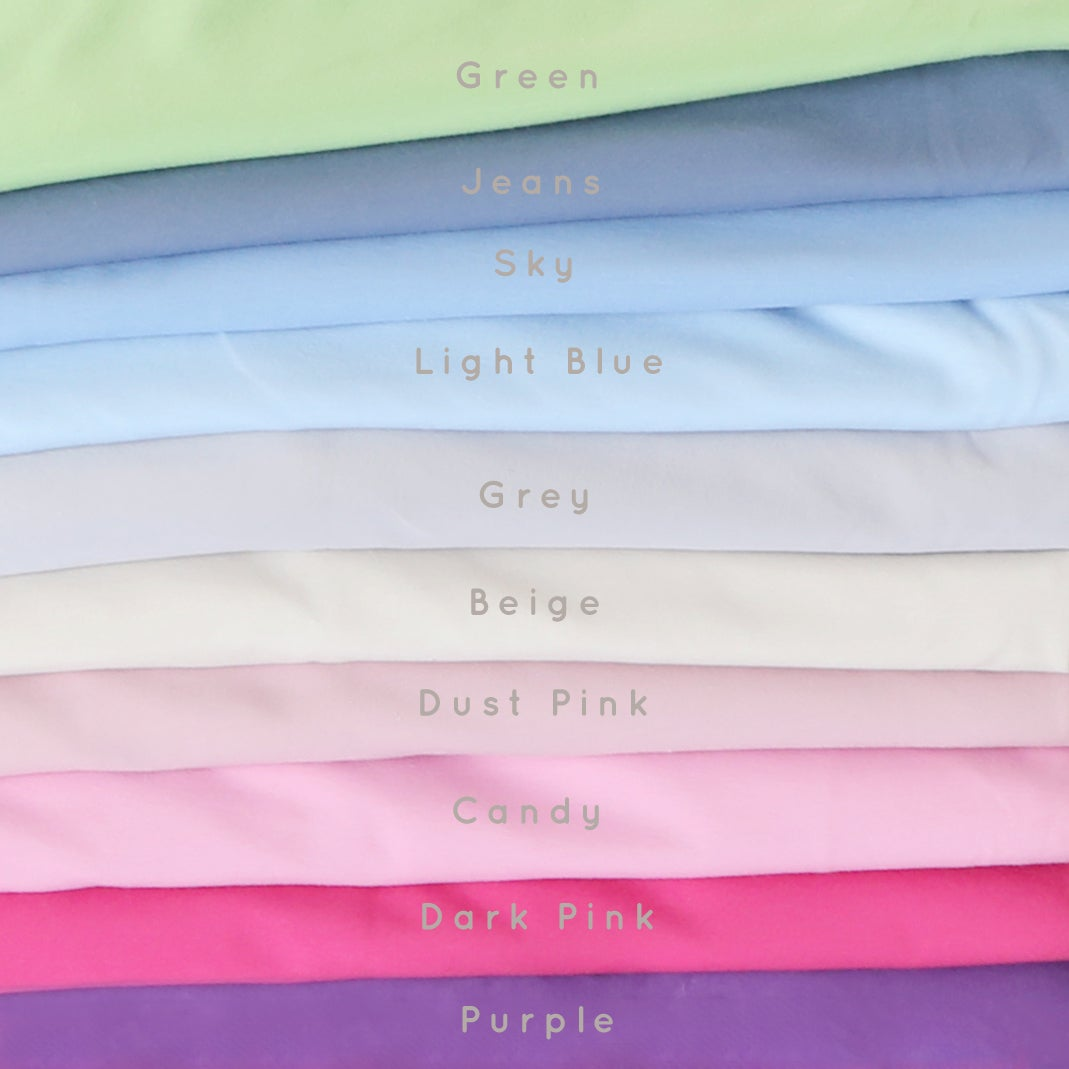 LIGHT BLUE Stretchy Jersey Cotton Set (5 pieces)