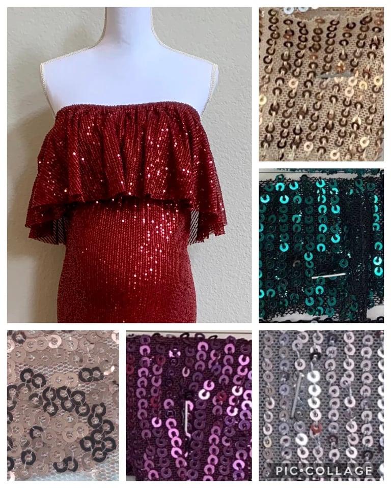 Image of RAW EDGE Sequin Harper Crop top (choose color) 4-12 size