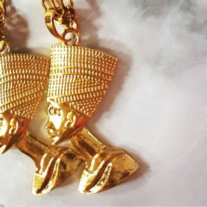 Image of QUEEN NEFERTITI GOLD PLATED NECKLACE