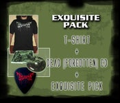 "Image of Exquisite Pack: Exquisite Pus ""Dead (forgotten)"" CD + T-shirt + Guitar pick"