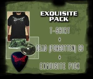 "Image of Exquisite Pack: Exquisite Pus ""Dead (forgotten)"" CD + T-shirt + Guitar pick"