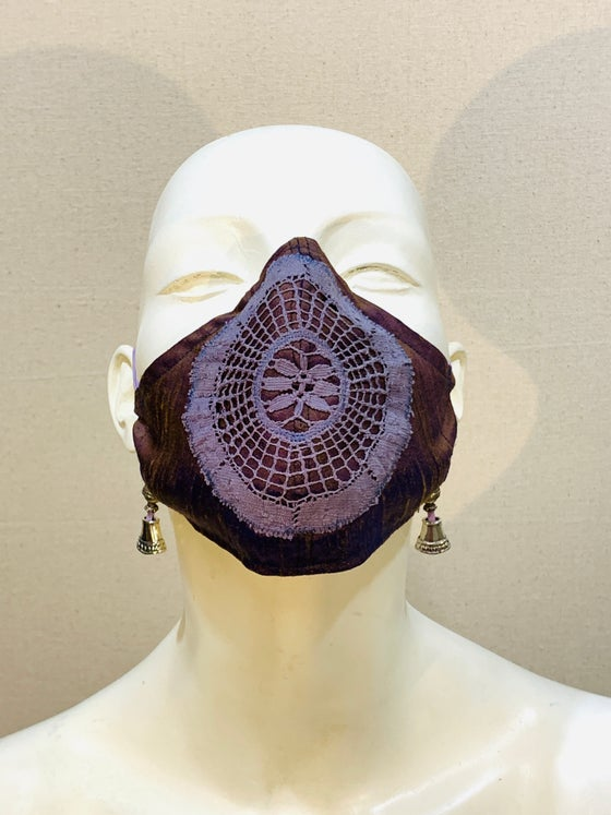 Image of Couture  Mask: Purple Gold