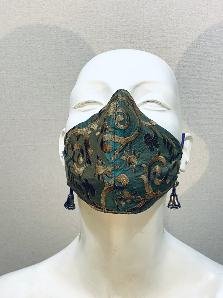 Image of Couture  Mask: Gold Teal
