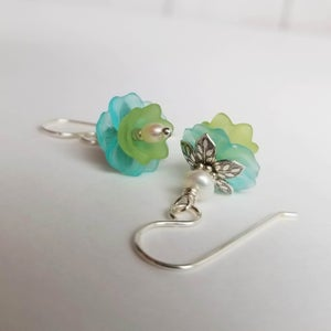 Image of Water Lily Earrings (Silver)