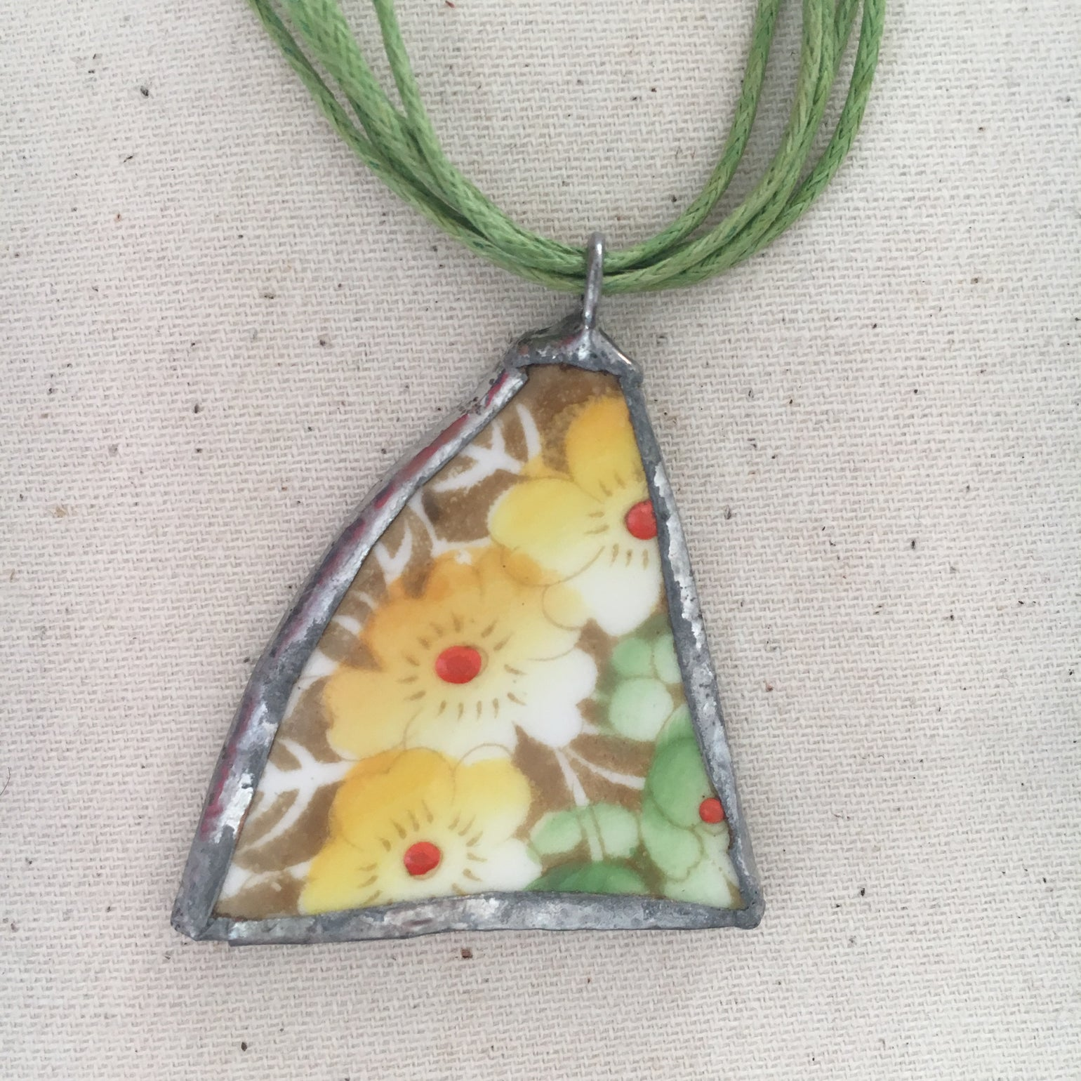 Image of Yellow Ceramic Necklace