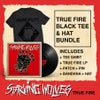 Combo Pack w/ Record, Black on Black shirt, Patch, Pin, Hat, Bandana