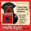 Combo Pack w/ Record, Red ink on Black shirt, Patch, Pin, Bandana