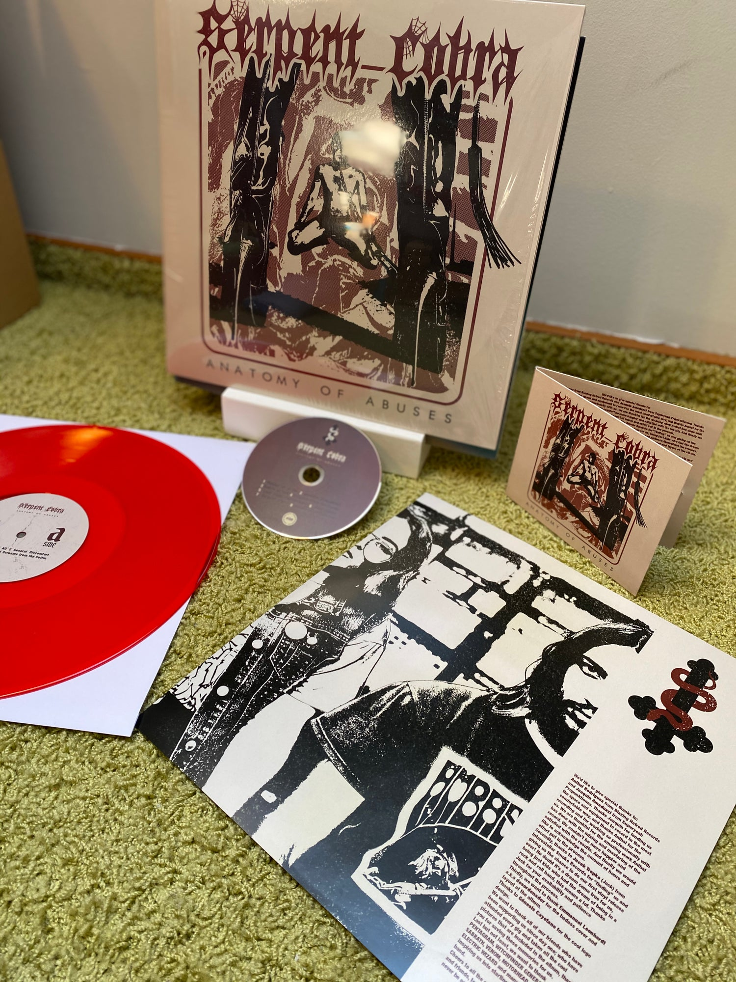 """Image of SERPENT COBRA """"ANATOMY OF ABUSES"""" RED VINYL EDITION"""