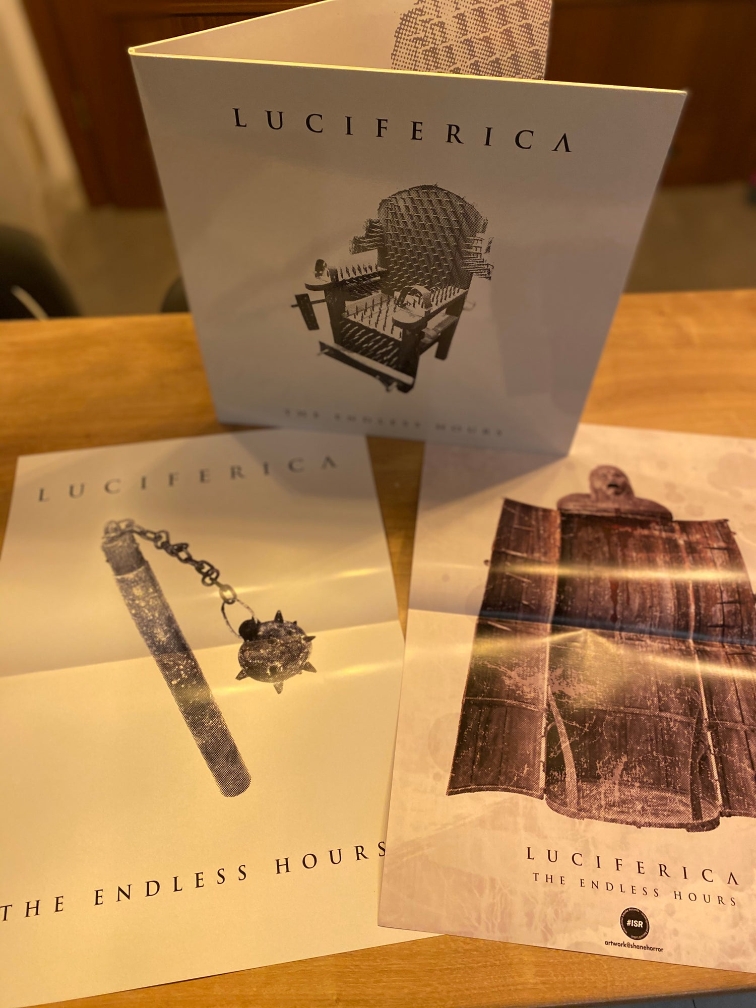 "Image of Luciferica ""The Endless Hours"" White Widow Vinyl Edition"