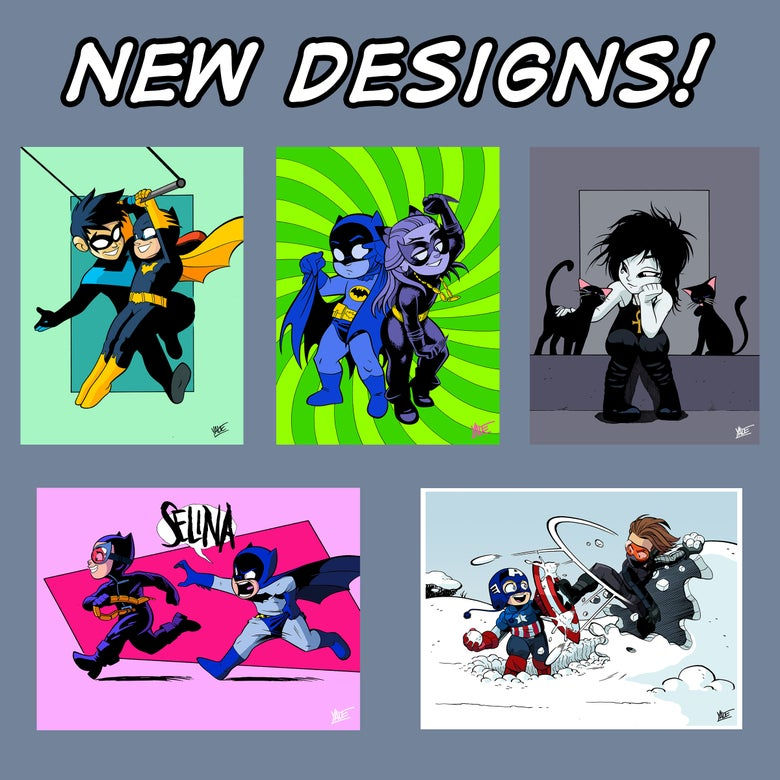 """Image of *NEW* 9""""x12"""" Assorted Designs 01 - Signed Prints, $10 ea"""