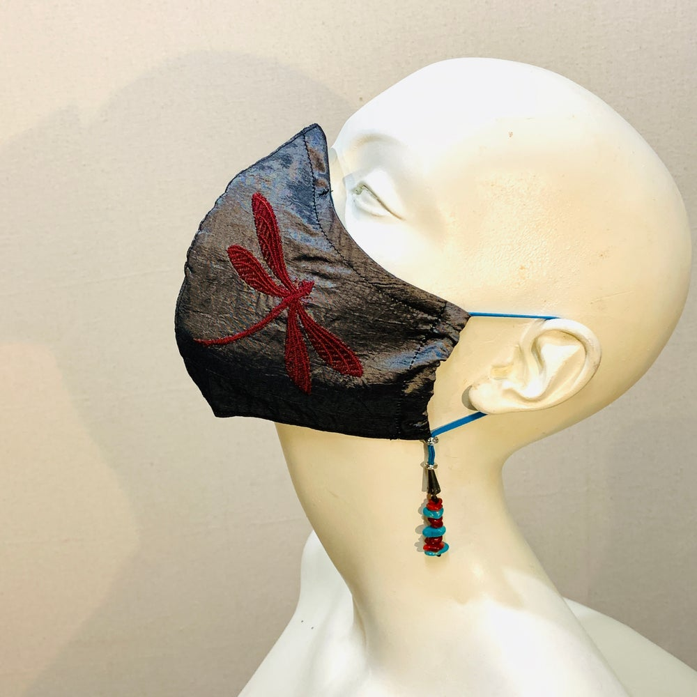 Image of Couture  Mask: Dragonfly n' Turquoise