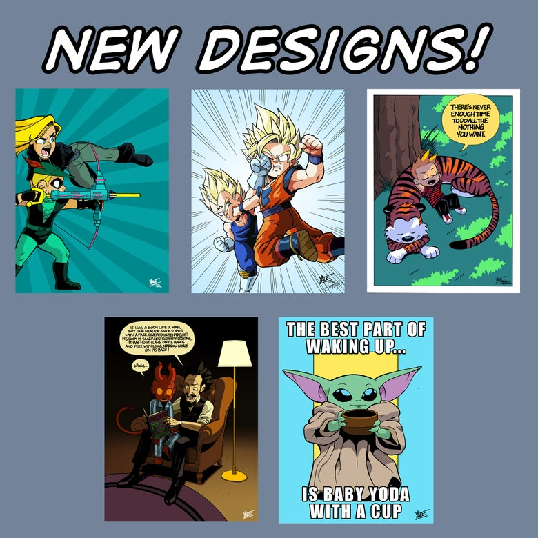 """Image of *NEW* 9""""x12"""" Assorted Designs 02 - Signed Prints, $10 ea"""