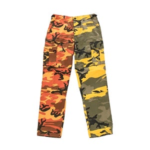 Image of US Kampfhose BDU two tone orange-yellow