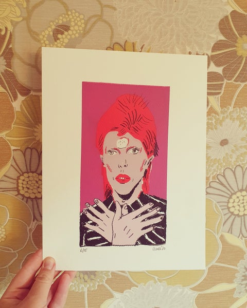 Image of David Bowie ORIGINAL #6 drawing