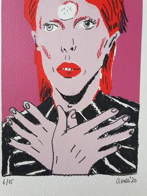 Image of David Bowie ORIGINAL #6 drawing