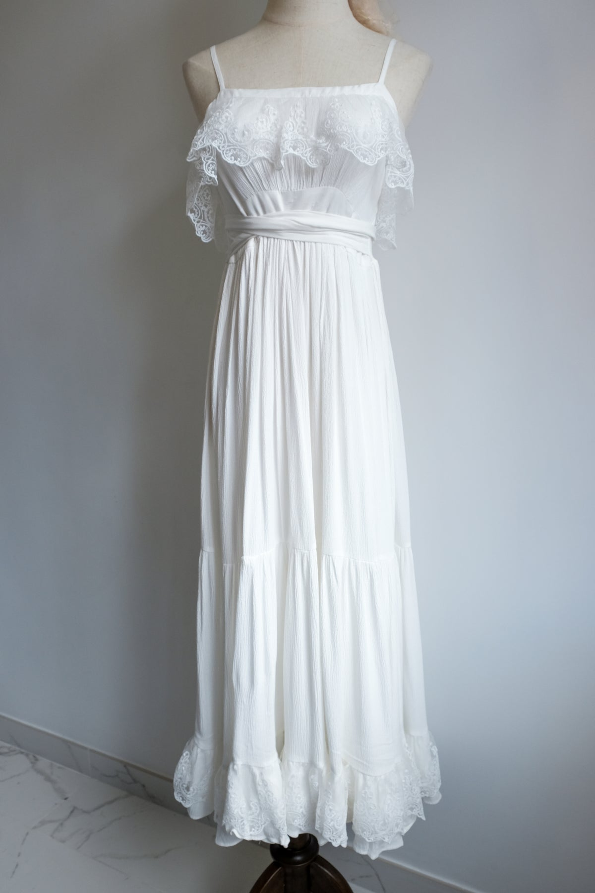 Image of SAMPLE SALE - Unreleased White Dress 011