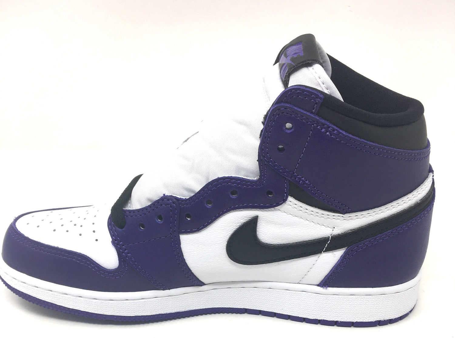 "Image of Nike Retro Air Jordan 1 ""Court Purple"" GS Sz 7y"