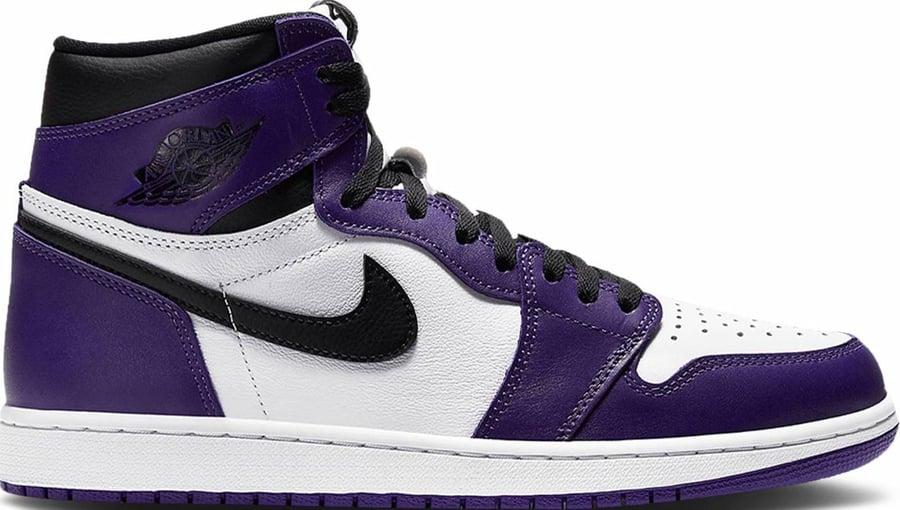 "Image of Nike Retro Air Jordan 1 ""Court Purple"" GS Sz 7y"