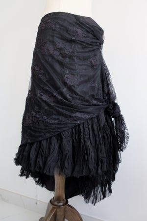 Image of SAMPLE SALE - Unreleased Silk Skirt In Black 004